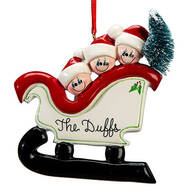 Personalized Sleigh Family Ornament