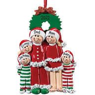 Personalized Christmas Eve Family Ornament