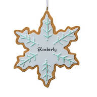 Personalized Snowflake Cookie Ornament