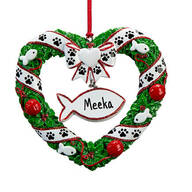 Personalized Pet Wreath Ornament
