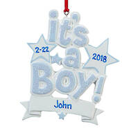 Personalized It's a Boy Ornament