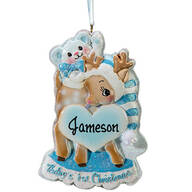 Personalized Baby's First Christmas Deer Ornament