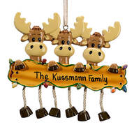 Personalized Moose Family Ornament