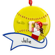 Personalized Softball Ornament