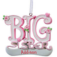 Personalized Big Sister Ornament