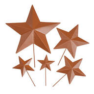 Rustic Barn Star Garden Stakes, Set of 5