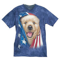 Patriotic Golden Pup T- Shirt
