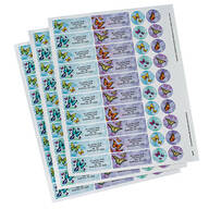 Personalized Butterflies Labels & Seals 60