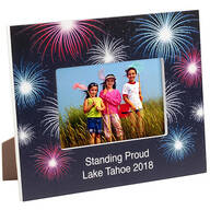 Personalized Fanciful Fireworks Frame