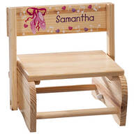 Personalized Children's Ballet Step Stool