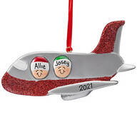 Personalized Family Airplane Ornament