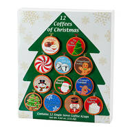 12 Coffees of Christmas Single Serve Tree Gift Pack