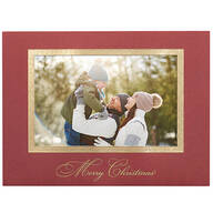Traditional Merry Christmas Photo Christmas Cards, Set of 18