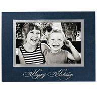 Traditional Happy Holidays Photo Christmas Cards, Set of 18