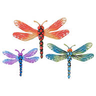 Metal Dragonfly Plaques Set of 3 by Fox River Creations™