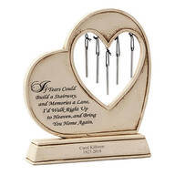 Personalized Memorial Wind Chime Garden Stone