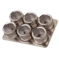 Home Marketplace 7 Pc Stainless Magnetic Spice Rack