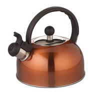 Copper Color Whistling Tea Kettle by Home Marketplace