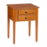 2-Drawer Shaker End Table by OakRidge™