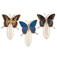 Butterfly Bookmark Clips Set of 3
