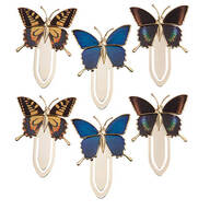 Butterfly Bookmark clips Set of 6