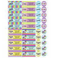 Personalized Colorful Celebrations Labels and Seals, Set of 60