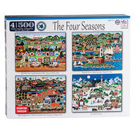 4-in-1 The Four Seasons Puzzle Set, 500 pieces each