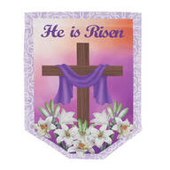 He is Risen Garden Flag