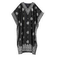 Black Paisley Caftan by Sawyer Creek