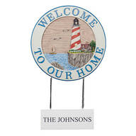 Personalized Welcome Lighthouse Sign