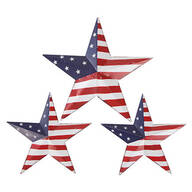 American Flag Barn Stars, Set of 3