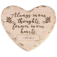 """Personalized """"Forever in our Hearts"""" Memorial Stone"""