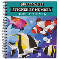 "Brain Games® Sticker by Number ""Under the Sea"""