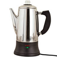 12 Cup Stainless Steel Coffee Percolator by Home Marketplace
