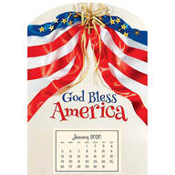 Mini Magnetic God Bless America Calendar