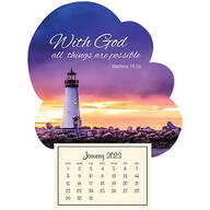 Mini Magnetic Calendar Inspirational Lighthouse