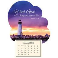 Mini Magnetic Calendar Inspirational Lighthouse