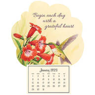 Mini Magnetic Calendar Grateful Hummingbird