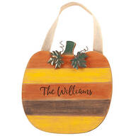 Personalized Pumpkin Door Hanger