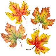 Metal Fall Leaves, Set of 4 by Fox River Creations™