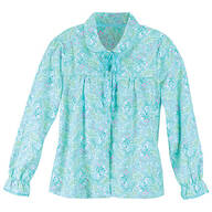 Floral Flannel Bed Jacket by Sawyer Creek