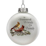 Treasured Friends Glass Ball Ornament