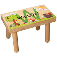 Personalized Woodland Animals Children's Step Stool