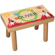 Personalized Space-Themed Children's Step Stool