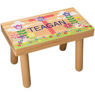 Personalized Flowers & Owls Children's Step Stool