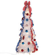 4-ft. Patriotic Pull-Up Tree with LED Lights
