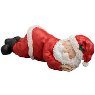 Resin Sleeping Santa