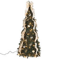 4-ft. Silver & Gold Pull-Up Tree