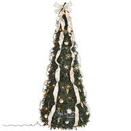 6-ft. Silver & Gold Pull-Up Tree