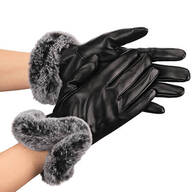 Lambskin Faux Fur Gloves